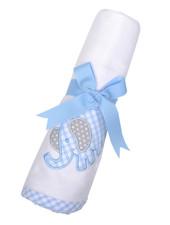 3 Marthas Blue Elephant Receiving Blanket