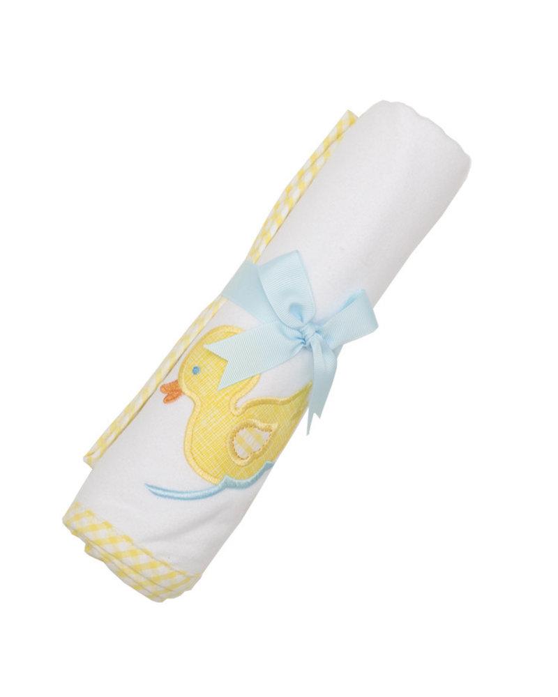 3 Marthas Yellow Duck Receiving Blanket