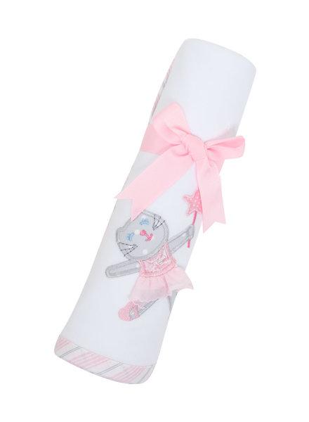 3 Marthas Ballet Kitty Receiving Blanket
