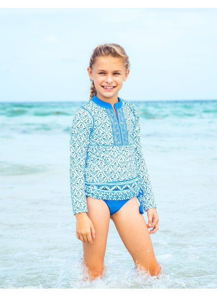 Cabana Life Girls 2 Piece Rashguard Set