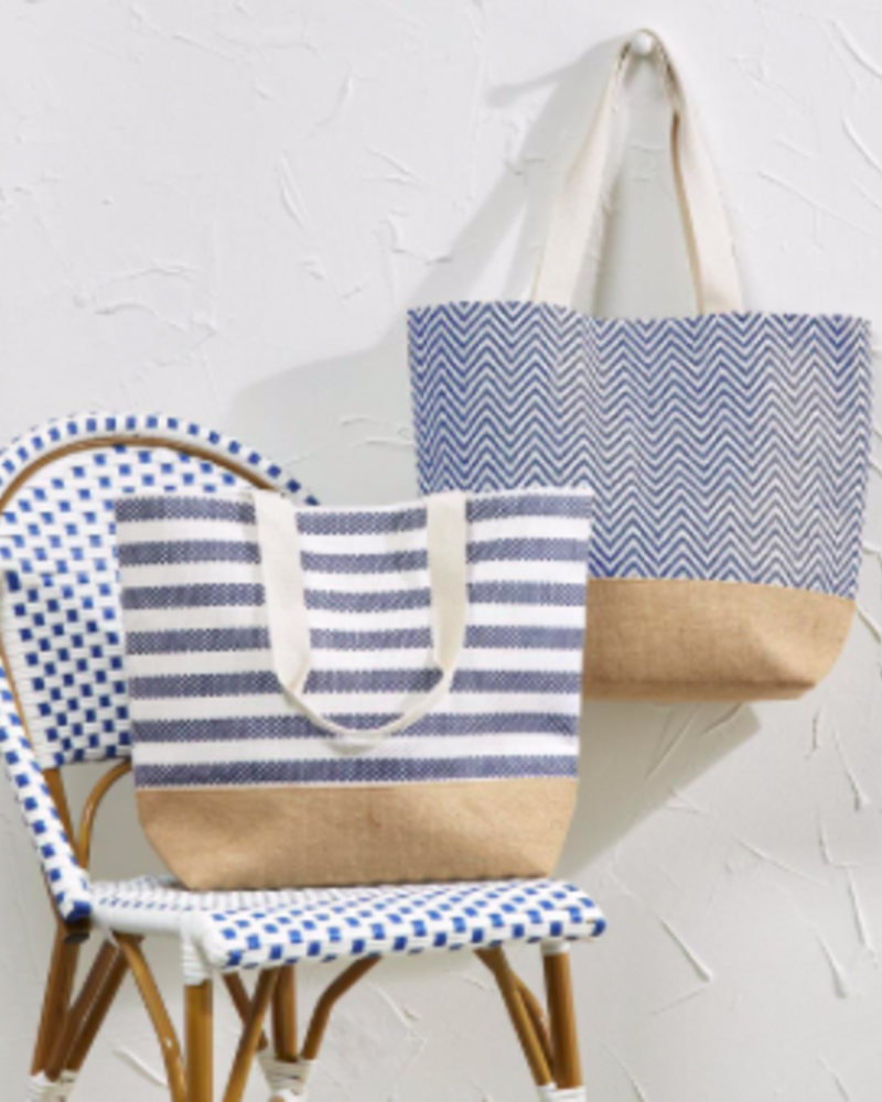 Two's Company Two's Company Mykonos Tote Bag With Monogram