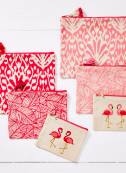 Two's Company Pink Flamingo 3 Pouch Set - 2 Color Options