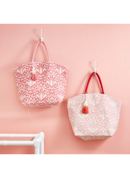 Two's Company Pink Ikat Tote Bag - 2 Color Options