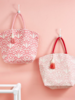 Two's Company Monogrammed Pink Ikat Tote Bag