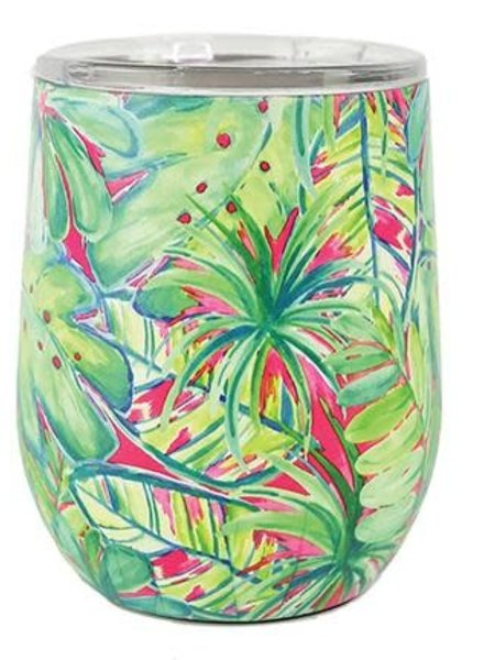 Mary Square Tropical Stemless Wine Tumbler - 2 Print Options