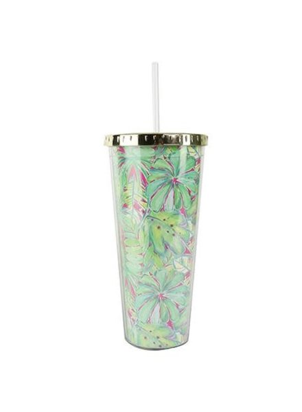 Mary Square Tropical Straw Tumbler - 2 Prints
