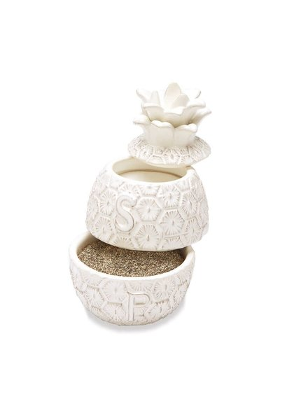 Mudpie Pineapple Stacked Salt & Pepper Cellar