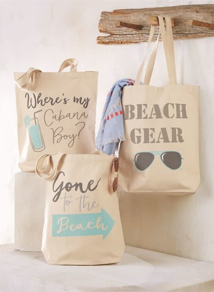 Mudpie Personalized Canvas Beach Tote - 3 Sayings