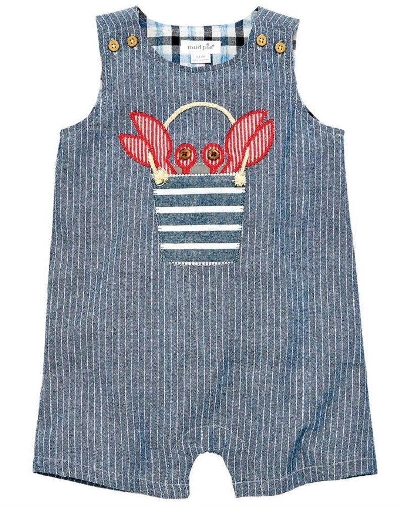 Mudpie Crab Chambray Shortall
