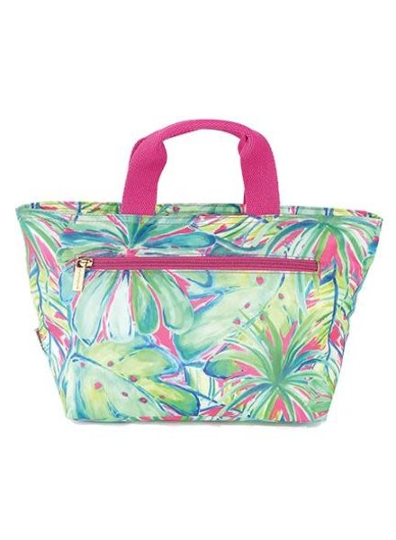 Mary Square Monogrammed Lunch Bag - 2 Tropical Prints