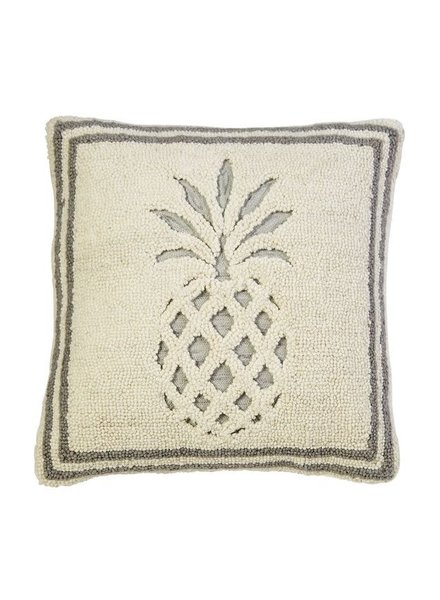 Mudpie Pineapple Hooked Pillow