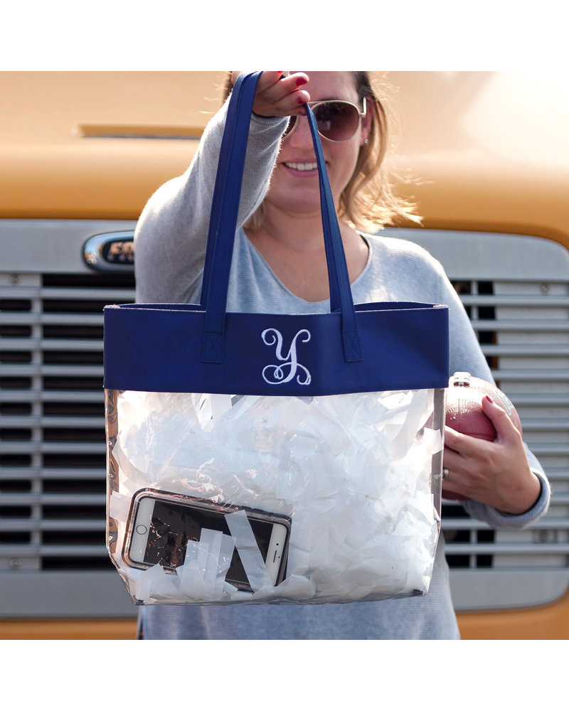 Wholesale Boutique Monogrammed Clear Tote Bag