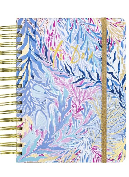 Lilly Pulitzer Kaleidoscope Coral To Do Planner With Monogram