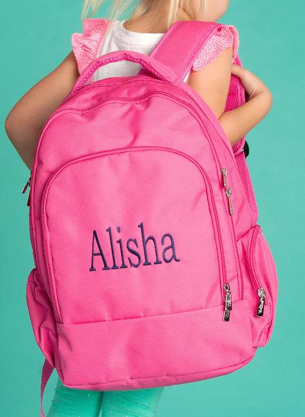 Wholesale Boutique Monogrammed Hot Pink Backpack