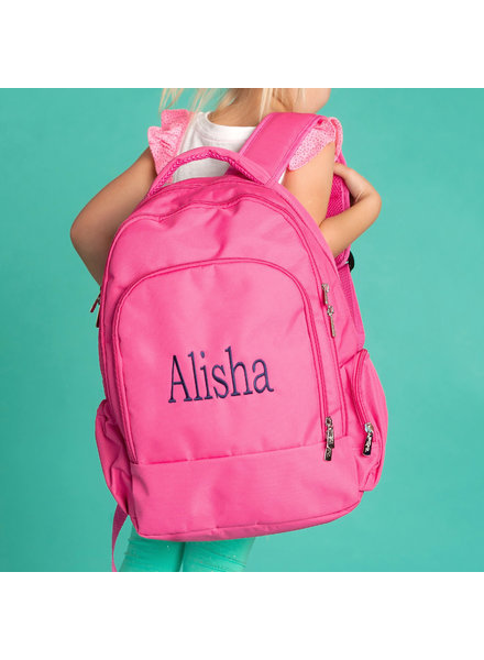 Wholesale Boutique Monogrammed Hot Pink Backpack