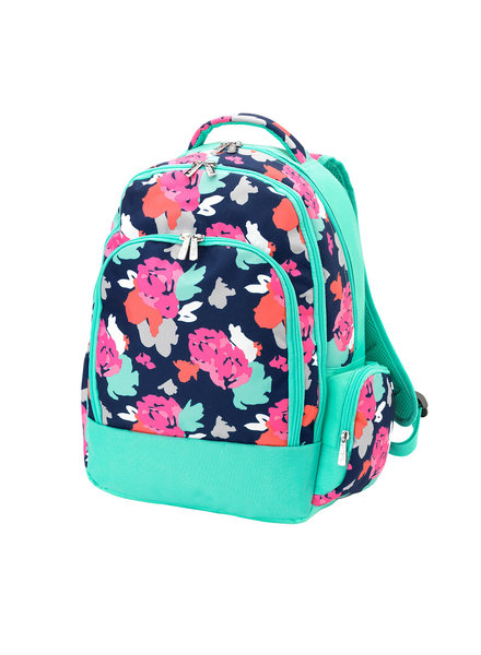 Wholesale Boutique Amelia Floral Monogrammed Backpack
