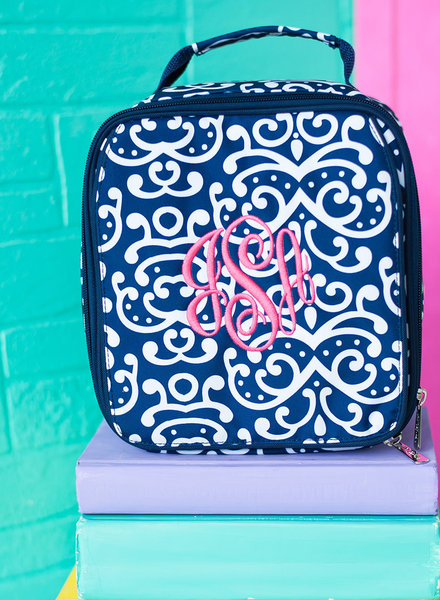 Wholesale Boutique Monogrammed Print Lunch Box