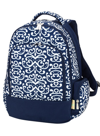 Wholesale Boutique Navy Patterned Backpack