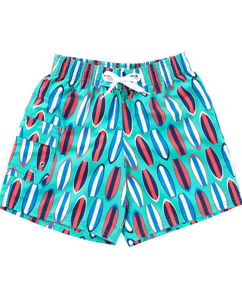 Wholesale Boutique Boys Monogrammed Swim Trunks