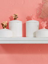 Two's Company Coral Lidded Jars - 4 Options