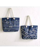 Two's Company Knot-ical Rope Tote Bag - 2 Designs