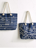 Two's Company Personalized Knot-ical Rope Tote Bag
