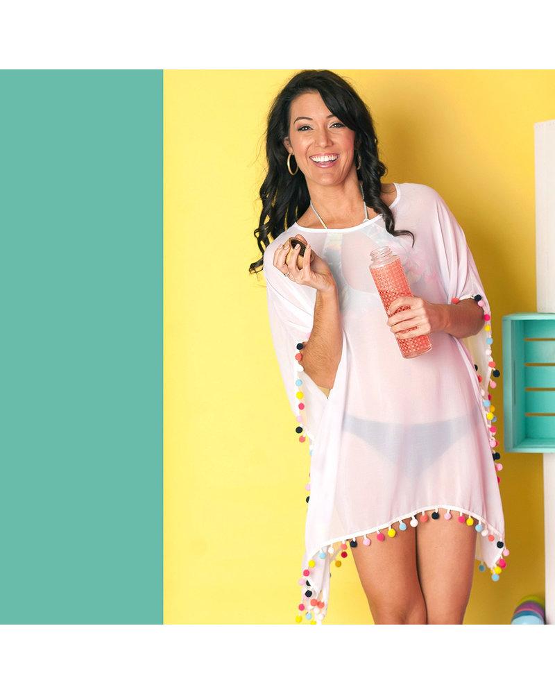 Wholesale Boutique Pom-Tastic Bathing Suit Coverup