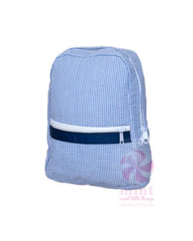 Mint Monogrammed Seersucker Toddler Backpack