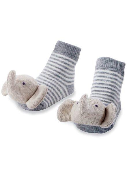 Mudpie Elephant Rattle Toe Socks