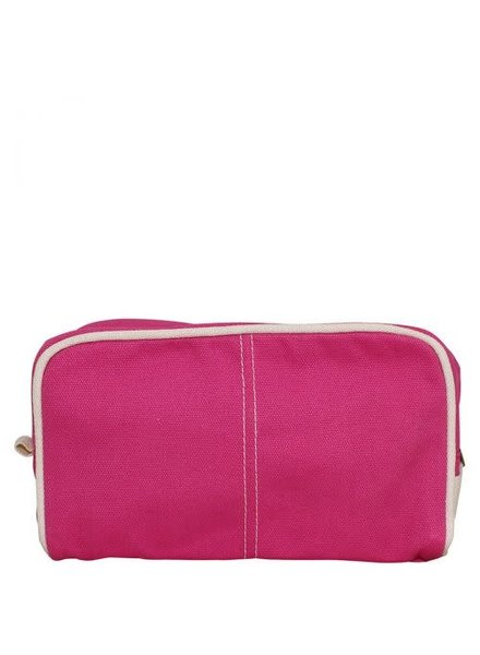 CB Station Monogrammed Pink Canvas Dopp Kit