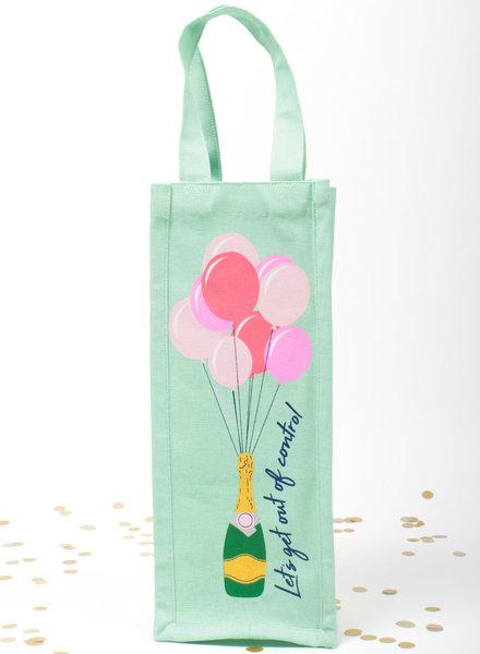8 Oak Lane Champagne & Balloon Wine Bag