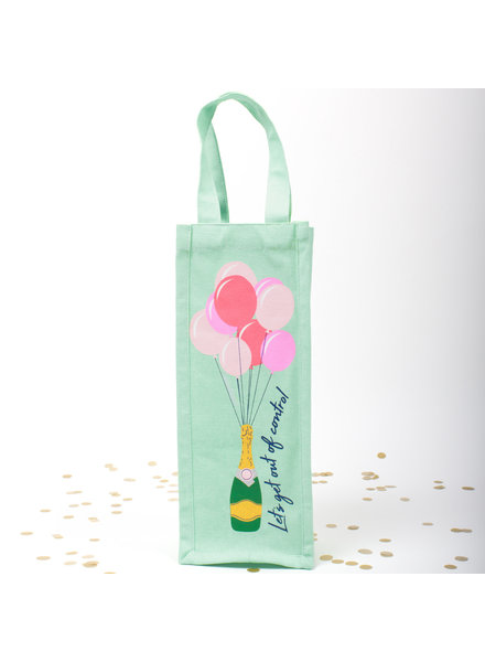 8 Oak Lane Champagne & Balloon Wine Bag