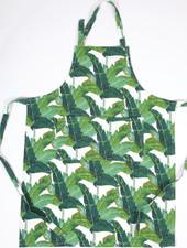8 Oak Lane Palm Leaf Apron With Monogram