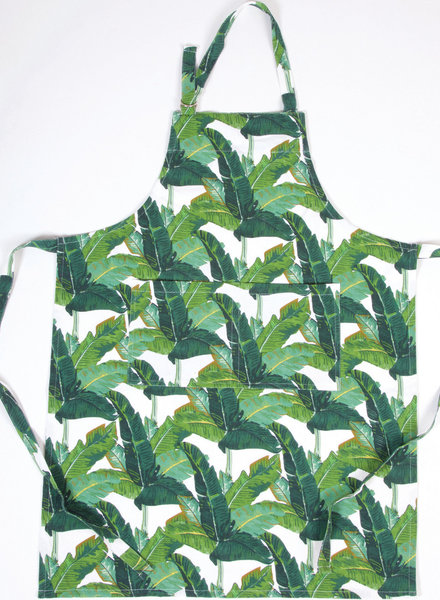 8 Oak Lane Palm Leaf Apron With Monogram