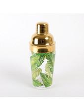 8 Oak Lane Monogrammed Palm Leaf Cocktail Shaker