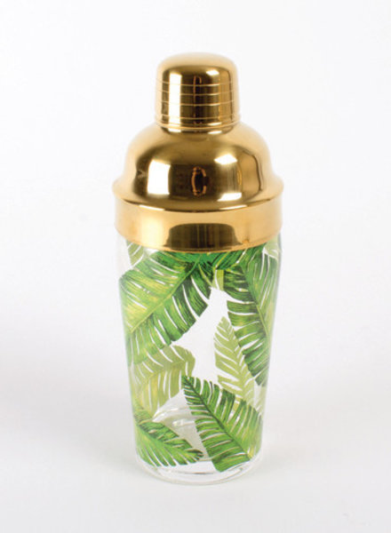 8 Oak Lane Monogrammed Palm Leaf Cocktail Shaker