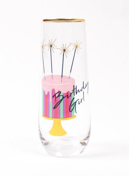 8 Oak Lane Birthday Girl Champagne Flute