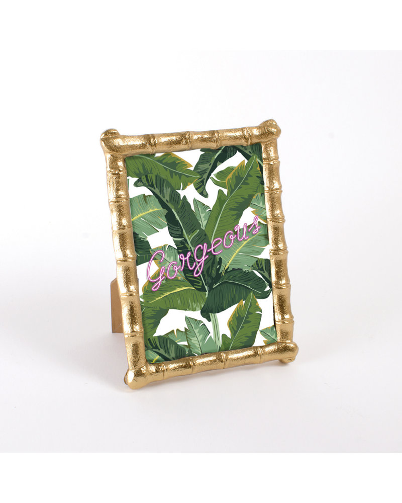 8 Oak Lane Gold Bamboo Picture Frame