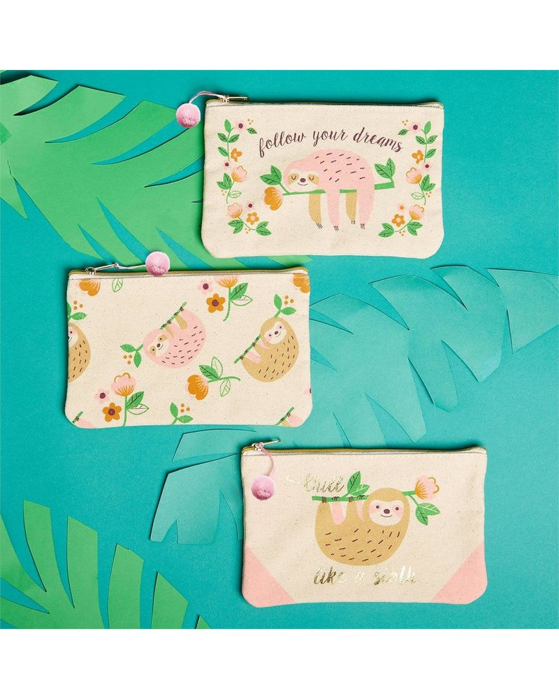 Two's Company Hello Lovely Sloth Zip Pouch