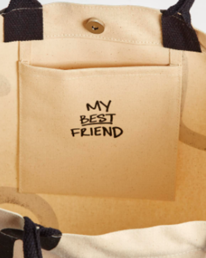 Two's Company Squin Collar Dog Tote Bag