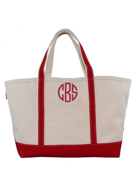 CB Station Monogrammed Large Boat Tote - 13 Colors