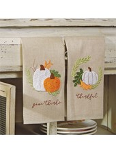 Mudpie Thanksgiving French Knot Towels