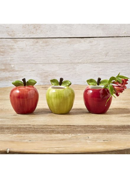 Two's Company Apple Vase - 3 Colors Available