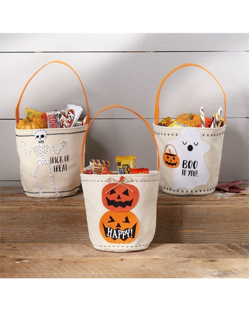 Mudpie Monogrammed Canvas Candy Bags