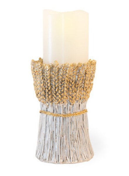 Boston International Wheat Pillar Candle Holder