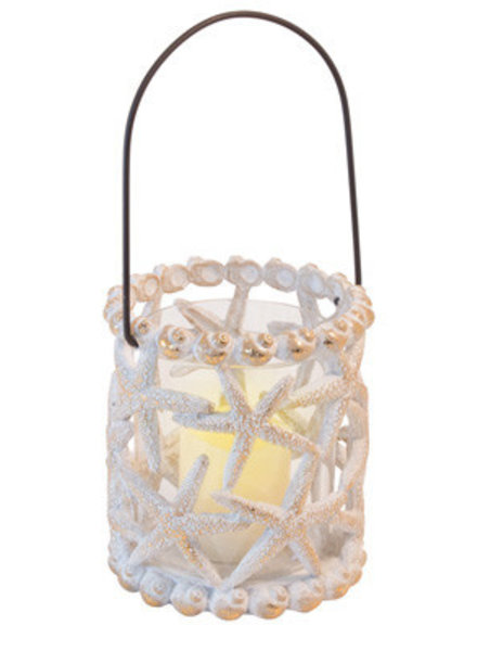 Boston International Shell Lantern Candle Holder