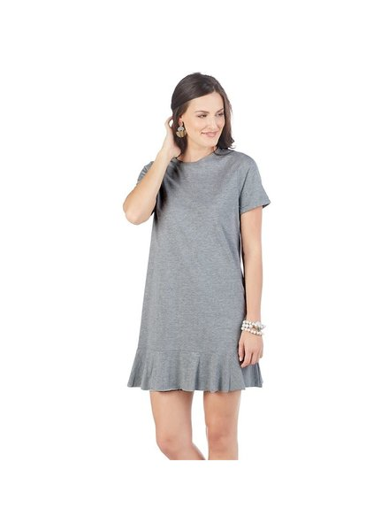 Mudpie Monogrammed Grey T-Shirt Dress