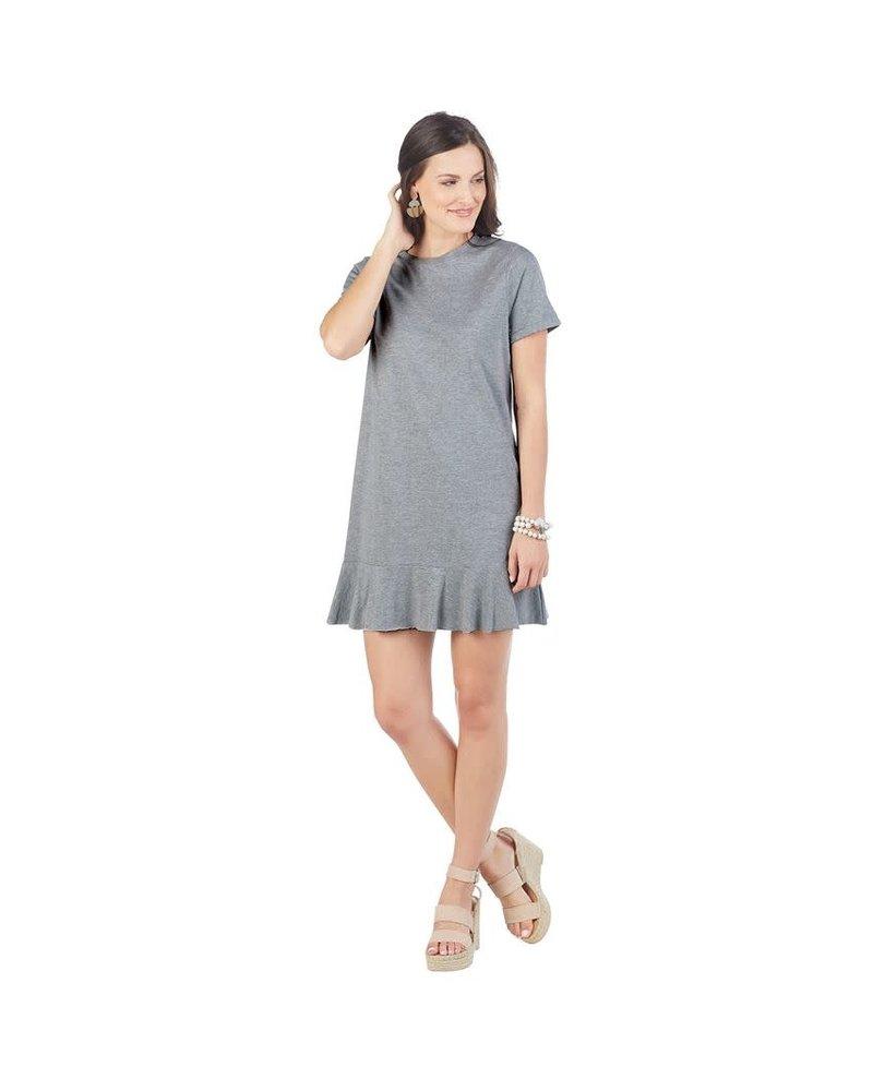 Mudpie Grey Hope T-Shirt Dress