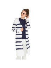 Mudpie Navy & White Striped Duster Sweater