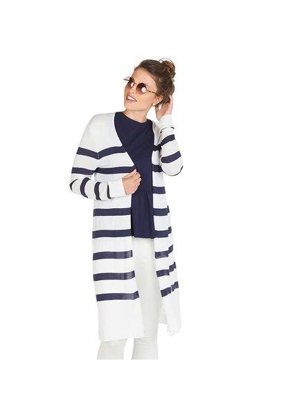 Mudpie Navy & White Striped Duster Sweater